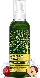 Morpheme Remedies Apple Cider Vinegar Face Wash - Oil Control, Balances Skin ph - 120ml - with USDA Organic Apple Cider Vinegar