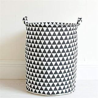 KPOON Panier à Linge Sale Style géométrique Vêtements Panier à Linge Pliable Ronde Boîte de Rangement Panier de Rangement ...