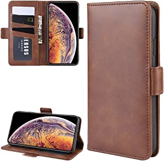 Protect Your Phone, Dual-Side Magnetic Buckle Horizontal Flip Leather Case for iPhone XI MAX (2019), with Holder & Card Slots & Wallet & Photo Frame for Cellphone. (Color : Brown)