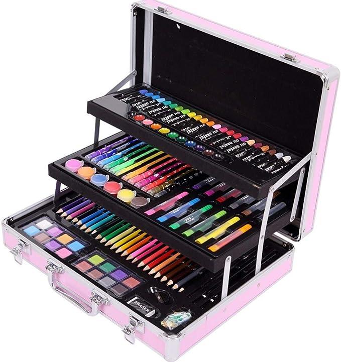 Drawing Kit Art Supplies Brush Set Watercolor Pen Children Graffiti Painting Black Elementary School Activity Gift Color Pink Size 37x28x9cm Amazon Ca Home Kitchen