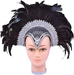 Bristol Novelty BA071 Feather Helmet Jewel Plume, One Size
