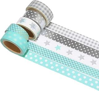 k-limit 5 Set Washi Tape Rollos de Washi Tape, Cinta