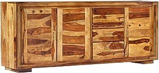 vidaXL - Aparador de madera maciza con 3 cajones 3 puertas armario multiusos armario auxiliar de palisandro 200 x 40 x...