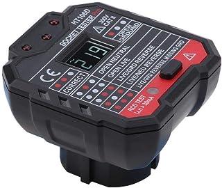 Stopcontacttester, HT106D/HT106B/HT106E Multifunctionele elektrische stopcontacttester Netfoutcontrole-instrument, met kle...