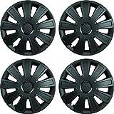 Custom Accessories 96905 Matte Black 16' ABS Inova Blackout Painted Wheel Cover, 4 Piece
