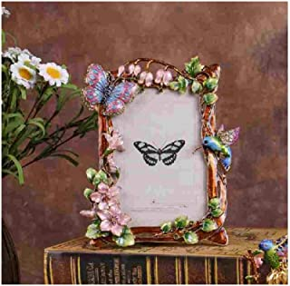 Home Décor Ling Orchid Metal Photo Frame Wedding Picture Frame Garden Photo Frame Set Up Creative Home Decoration (Color :...