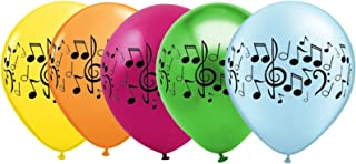 Music Note Balloons for Band, Choir, or Music Birthday Party - 25 Pack Assorted Colors
