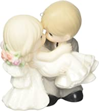 """Precious Moments Company, Wedding Gifts, """"On The Threshold of A Lifetime of Happiness"""", Bisque Porcelain Ornament, 163010, Multi"""