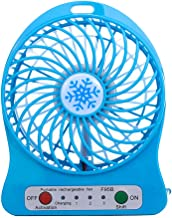 Rechargable Desk Fan with LED Light and 3 level fan speed contral, USB Mini Fan Portable Rechargable Desk Cooling Fan with...
