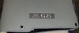 Infiniti 2011 + 2012 G25 Genuine Factory OEM Carpeted Floor Mats - Stone (Light) Gray