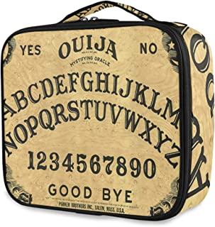 Travel Makeup Case,Ouija BoardPortable Organizer Makeup Bag Cosmetic Train Case with Large Capacity and Adjustable Dividers for More Storage