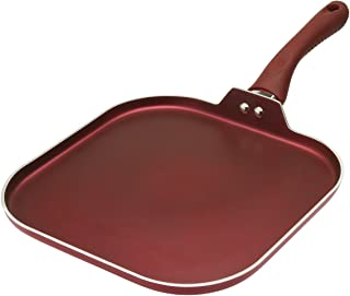 Ecolution EVRE-3228 Non-Stick Griddle Pan Dishwasher Safe, Silicone Handle, Specialty Cookware for Family, Griddle-11 Inch, Crimson Sunset