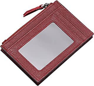 COSYOO محفظة جلدية نحيفة محمولة بسيطة وآمنة الأزياء المدمجة سستة حظر المال كليب العملات النقدية الناقل