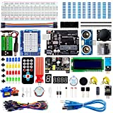 Smraza Super Starter Kit Compatible with Arduino Project with Tutorial, Including Breadboard, Power