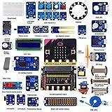 Adeept BBC Micro: Bit Sensor Starto Kit | Programmierbares Microbit-Starter-Kit für Micro: Bit mit 35 Projekten PDF Tutorials Book | Micro: Bit und Erweiterungskarte enthalten