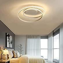 Moliay Lámpara de techo LED del accesorio ligero antideslumbrante de techo ahorro de energía moderno LED ras semi montado en el techo LED iluminación de la lámpara de reuniones Sala de estar dormitori