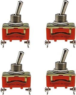 Toggle Flick Schakelaar, 4 stuks metaal aan/uit, auto tuimelschakelaar, Dash Light auto duurzaam