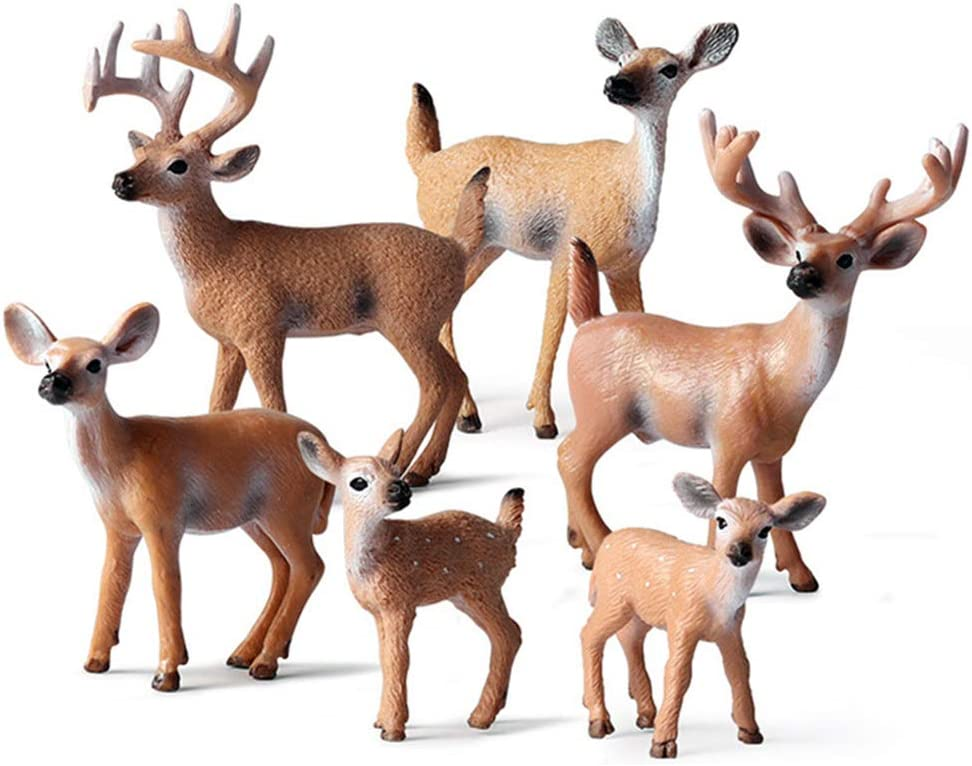 EOIVSH 6 2021 Pack Forest Animal Figures Deer Toy Fi Max 86% OFF Woodland