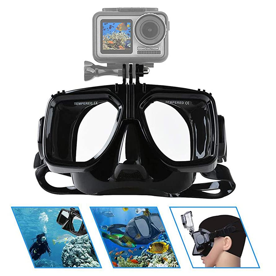 Eoeth DJI Accessories, Mutli-Function Underwater Diving Mask with Locking Mount for DJI Osmo Action