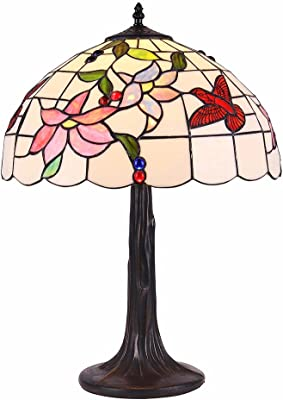 interfan bureau Tiffany fleurs E27, Multicolore