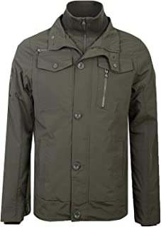 Crosshatch Mens Jacket Coat Double Layer Padded Funnel Neck Zip Lined Winter New