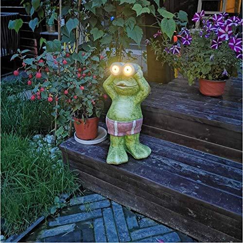 LXYZ Outdoor Dekoration Uhr Wächter Frosch Solar Elektronisches Nachtlicht Garten Garten Schmuck Lebensmittel Ornamente- 22 * 20 * 43cm Grün