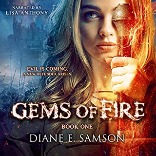 Gems of Fire - A Young Adult Fantasy                   Written by:                                                                                                                                 Diane E. Samson                               Narrated by:                                                                                                                                 Lisa Anthony                      Length: 9 hrs and 20 mins     Not rated yet     Overall 0.0