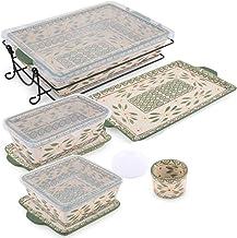 Chef Manal Al Alem Kitchen 12 Piece Ceramic Bakeware Set -Green