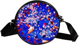 Coosun Umhängetasche mit Blumen-Design, rund, für Kinder und Damen