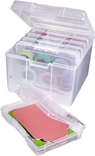ArtBin Photo & Craft Organizer Set Large Box with [5] Plastic Storage Cases Inside Clear, 5 Count