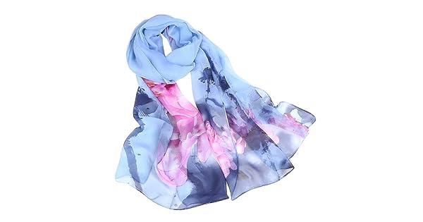 Owl Scarf Infinity Endless Shawl Wrap Women Pashmina Boho Hippy Jersey Fabric v