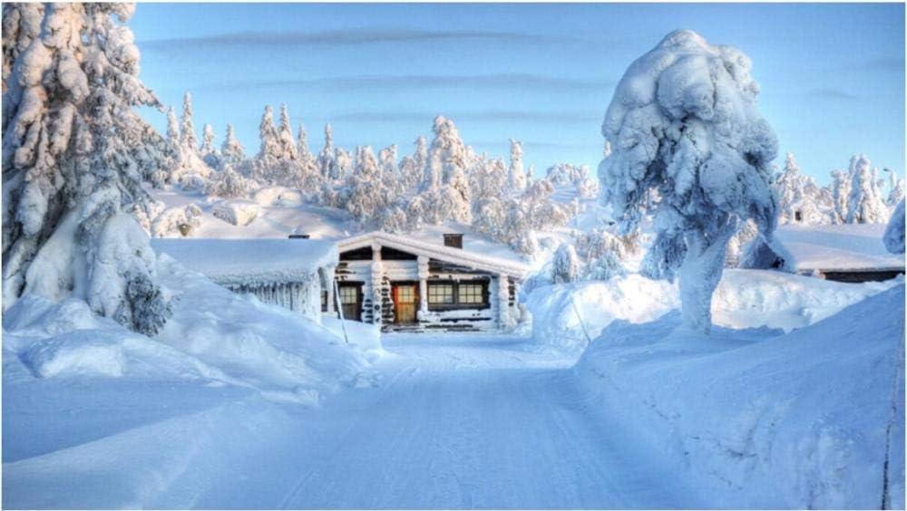 YHKTYV Wood shipfree Cabin Snow Scene Puzzles Adults Jigsa 1500 Ranking TOP15 Piece for