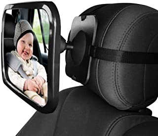 Dorart Rear Facing Baby View Mirror for Child Safety Car Seat - Crystal Clear Reflection via Crash-tested & Shatterproof C...