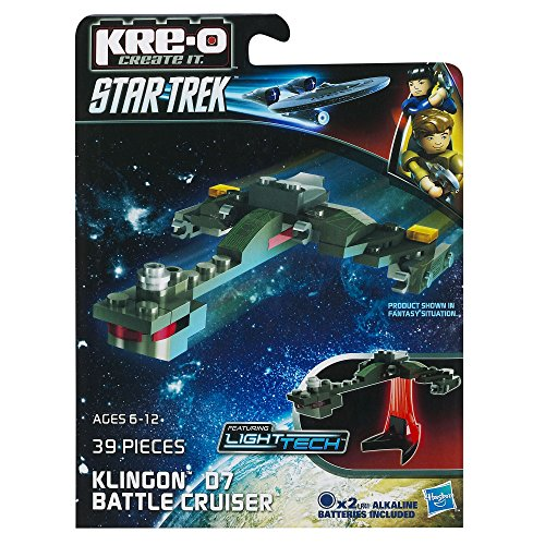 KRE-O Star Trek Klingon D7 Battle Cruiser Construction Set (A3369) by Kre-o TOY (English Manual)