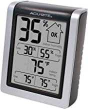 AcuRite 00613 Indoor Thermometer & Hygrometer with Humidity Gauge, 3