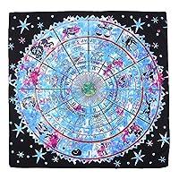 Felimoa タロット占い用リーディングマット テーブルクロスにも使用できる 占星術用グッズ (ブルー×ブラック)