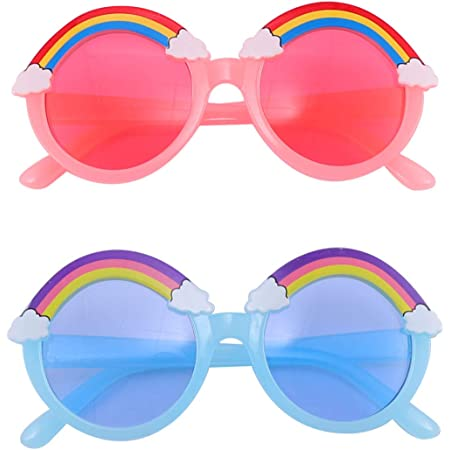 styleBREAKER unisex children nerd sunglasses with colourful frames plastic frames and flat polycarbonate lenses plastic legs 09020090
