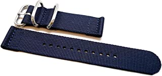 DaLuca Two Piece Ballistic Nylon Watch Strap - Navy : 22mm