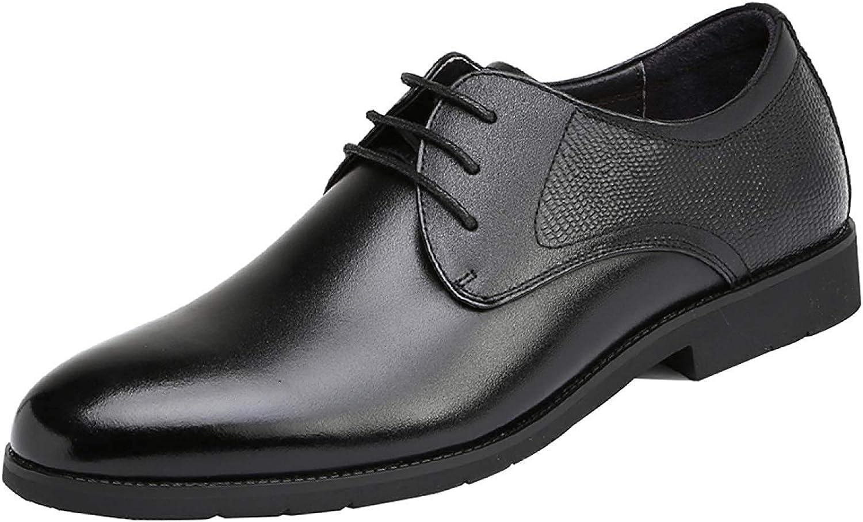 Oudan Herren Lace Up Derby Schuhe Offizielle Business Casual Schuhe Hochzeit Kleid Schuhe (Farbe   Schwarz 1, Gre   43EU)