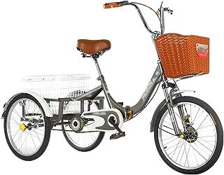 Jlxl Trehjuling Vuxen Fällbar Med Dubbla Broms Framkorg Baksäte Höjdjusterbar Cykelstol Och Styr För Stadscykelköp Comfort...