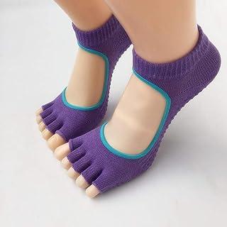 Open Toe Cotton Non-Slip Finger Socks Female Split Socks Socks Back,Fully Breathable