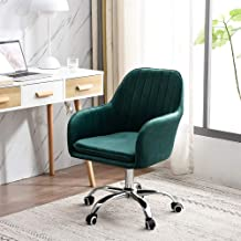 Office Chair Ergonomic Desk Chair Computer Chair, Adjustable Stool, Swivel Swivel Chair with Wheels and Armrests, Flannel Cushion, Strong Bearing Capacity