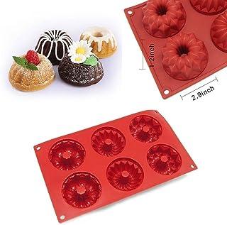 6 Cavity Silicone Mold Mini Bundt Savarin Cake Muffin Chocolate Baking Pan Mould by Silicone Kitchen