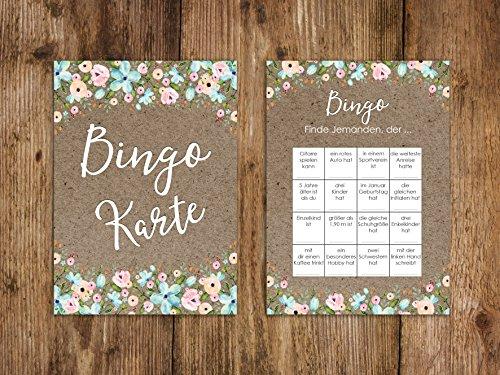 Bingokarten   Hochzeitsspiel 50 Stück - 2