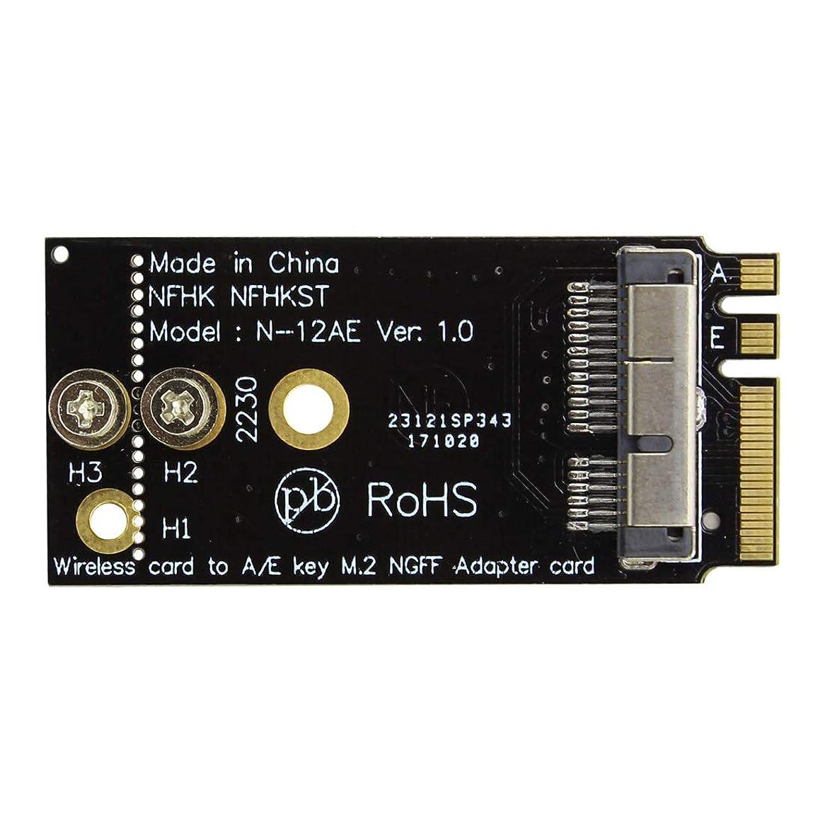 推進力刈る親指BGNing CM94360CS2 BCM943224PCIEBT2 12+6ピン Bluetooth WiFiワイヤレスカードモジュール - NGFF M.2キー A/Eアダプター Mac OS用