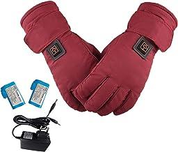Lingge Verwarmde handschoenen voor dames, winterhandschoenen, oplaadbaar, instelbare temperatuur, waterdicht, touchscreen,...