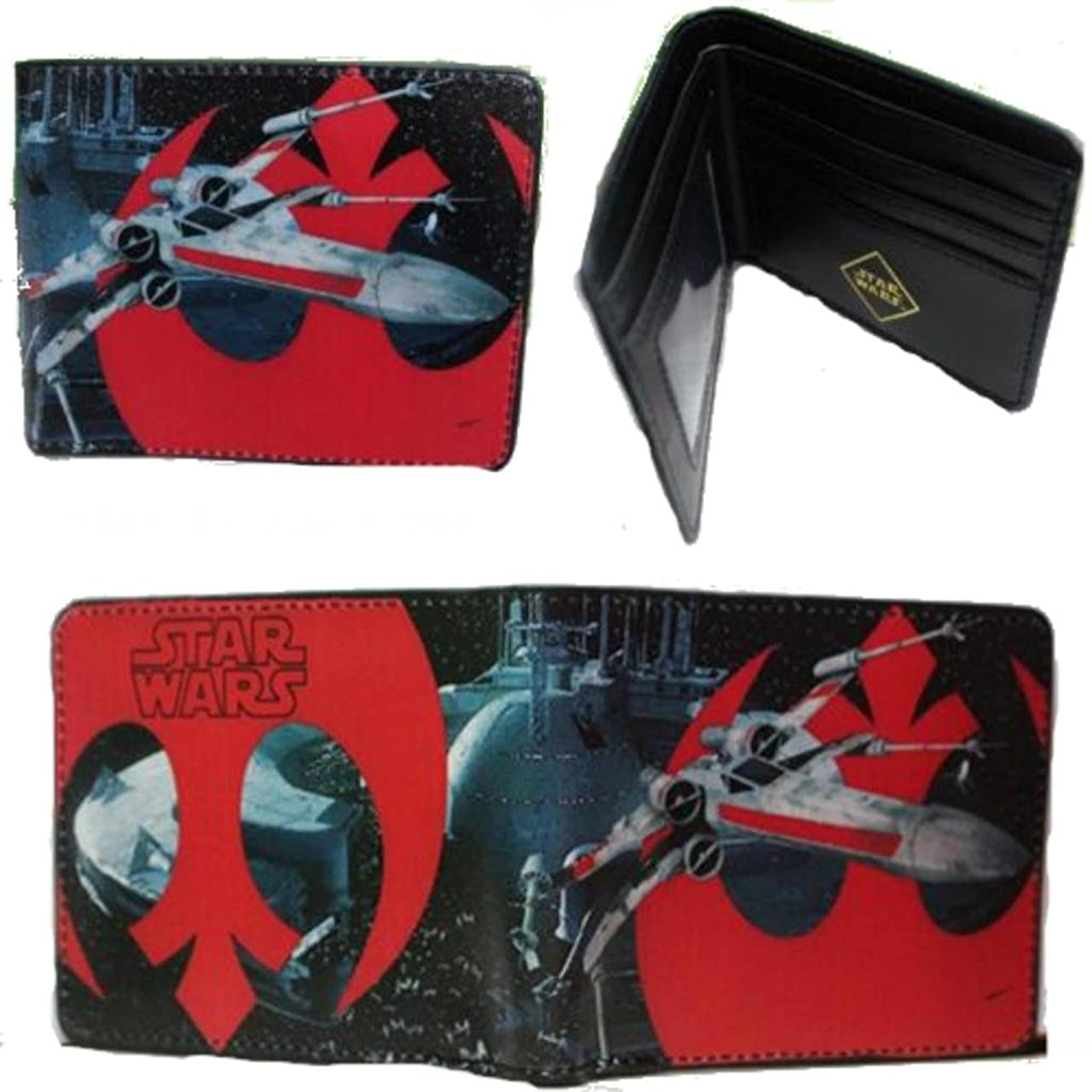 ラインナップ十分ではない組み立てるSTAR WARS X - Wing Rebel Allianceロゴ二つ折りメンズBoys Wallet w /ギフトボックスby Athena