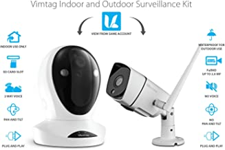 Vimtag Camera Kit - P1 Indoor Cam, B3 Outdoor Cam, | Wireless Security Solution