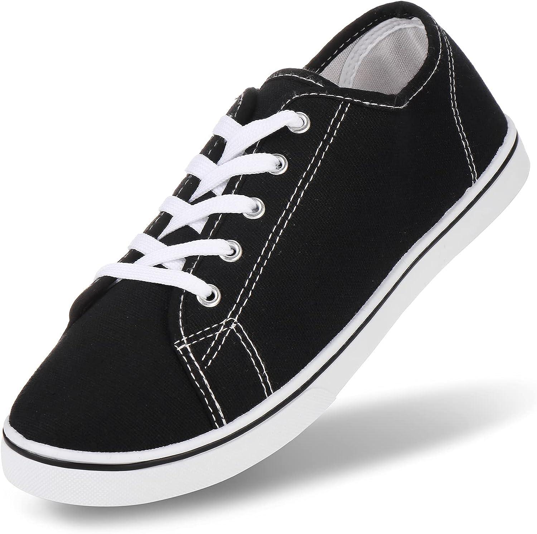 JOSINY Women's Canvas Sneakers Fashion Shoes Low Top Lace up Casual Walking Running Shoe