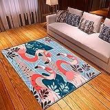 LGXINGLIyidian Tappeto Creativo Fenicottero Pop Art Ins Tappeto Morbido Antiscivolo per La Decorazione della Casa con Stampa 3D D-2418N 60X100Cm